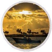 Florida Sunset-2 Round Beach Towel
