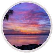 Florida Sunset #2 Round Beach Towel