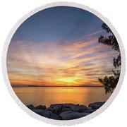 Florida Sunset #3 Round Beach Towel