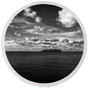 Round Beach Towel featuring the photograph Floridian Waters by Jon Glaser