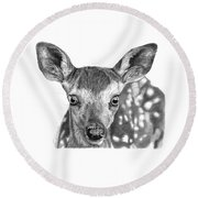 Florry The Fawn Round Beach Towel
