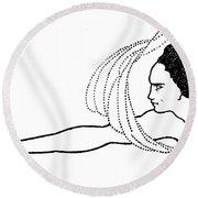 Flosshilde Round Beach Towel
