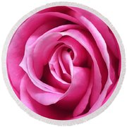 Flourishing Pink Round Beach Towel