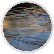 Round Beach Towel featuring the photograph Flow by Kenneth Campbell
