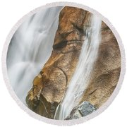 Round Beach Towel featuring the photograph Flow by Stephen Stookey