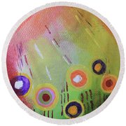 Flower 1 Abstract Round Beach Towel