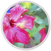 Flower 1 Round Beach Towel