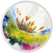 Flower 1 Round Beach Towel