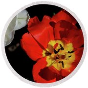 Flower 55 Round Beach Towel