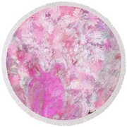 Round Beach Towel featuring the digital art Flower Art The Scent Of Love Is In The Air by Sherri Of Palm Springs