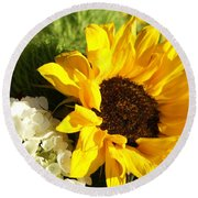 Round Beach Towel featuring the photograph Flower Bouquet by Heidi Poulin