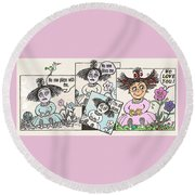Flower-child Round Beach Towel