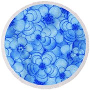 Flower Cloud Round Beach Towel