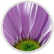 Flower Macro Beauty Round Beach Towel