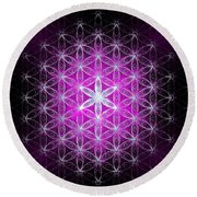 Flower Of Life Basic Round Beach Towel