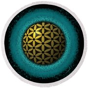 Round Beach Towel featuring the digital art Flower Of Life by Vincent Autenrieb