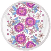 Flower Power 9 Round Beach Towel