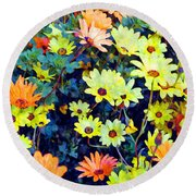 Round Beach Towel featuring the photograph Flower Power by Glenn McCarthy Art and Photography