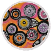 Flower Series 10 Round Beach Towel