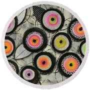 Flower Series 2 Round Beach Towel