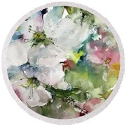 Flower Series 2017 Round Beach Towel by Robin Miller-Bookhout