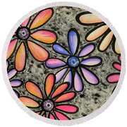 Flower Series 4 Round Beach Towel