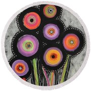 Flower Series 6 Round Beach Towel
