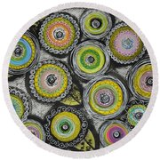 Flower Series 7 Round Beach Towel