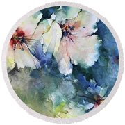 Flower Series   Uploaded For Kaye Round Beach Towel