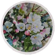 Flower_12 Round Beach Towel