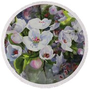 Flower_13 Round Beach Towel