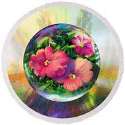 Flowering Panopticon Round Beach Towel by Robin Moline