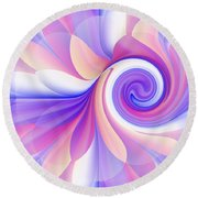 Flowering Pastel Round Beach Towel by Lori Grimmett