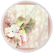 Flowering Pear Round Beach Towel