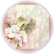 Flowering Pear Round Beach Towel