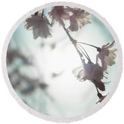 Flowering Tree 02 Round Beach Towel