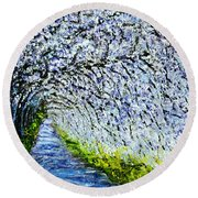 Flowering Tree Lane Round Beach Towel