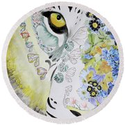Flowerpower Round Beach Towel