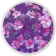 Flowers #063 Round Beach Towel by Barbara Tristan