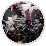 Round Beach Towel featuring the digital art Flowers by Stuart Turnbull