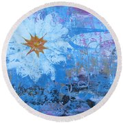 Flowers 19 Round Beach Towel