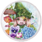 Flowers 4 Sale - Garden Whimzies Collection Round Beach Towel by Sheena Pike