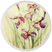 Flowers Round Beach Towel by Allen Beilschmidt