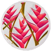 Flowers Fantasia   Round Beach Towel by Mark Ashkenazi