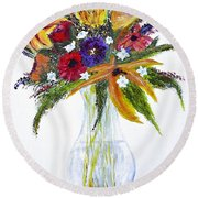 Flowers For An Occasion Round Beach Towel