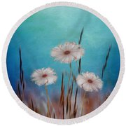 Flowers For Eternity 2 Round Beach Towel by Klara Acel
