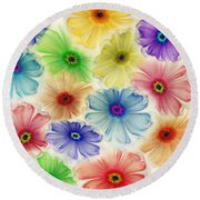 Flowers For Eternity Round Beach Towel by Klara Acel