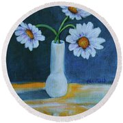 Flowers For Greta Round Beach Towel