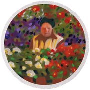 Flowers For Sale Round Beach Towel