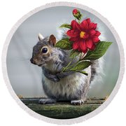 Flowers For You Round Beach Towel by Brian Wallace